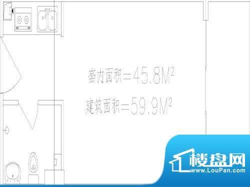 城市中坚户型图户型图59.9平米面积:59.90平米