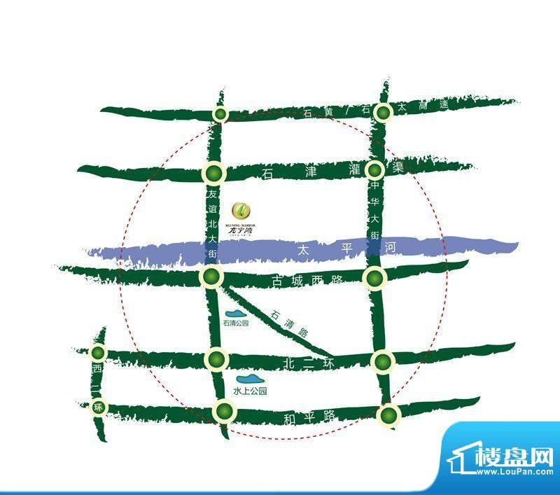 北宁湾交通图区位图