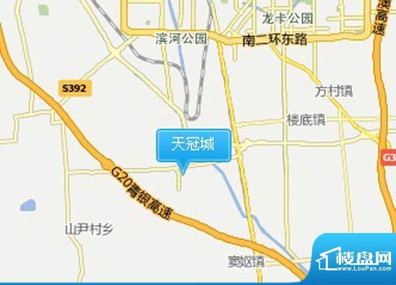 天冠城交通图