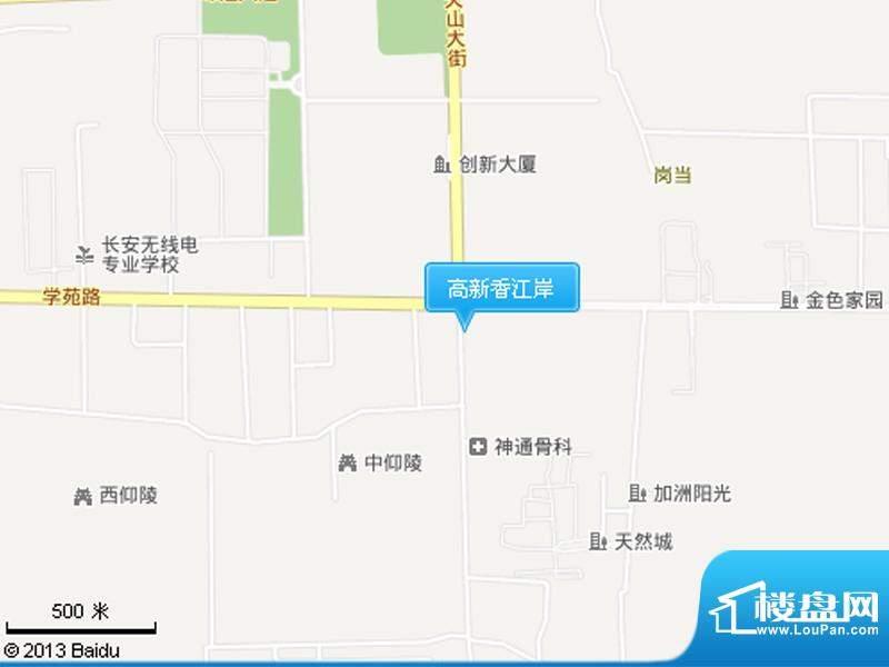 高新香江岸交通图