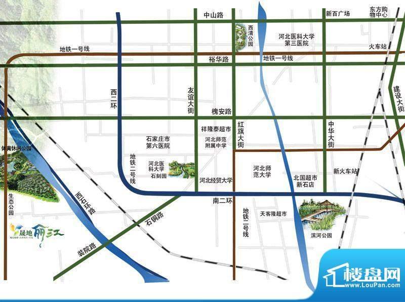 晟地丽江交通图区位图