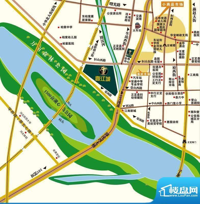 壹江城交通图区位图