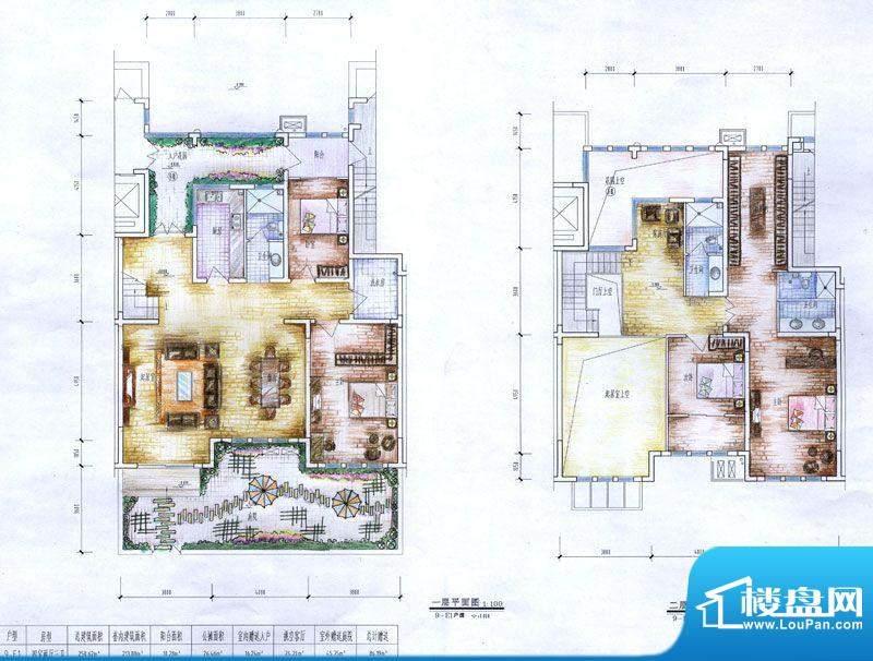 十里洋房户型图E1户型 4室2厅3面积:250.26平米