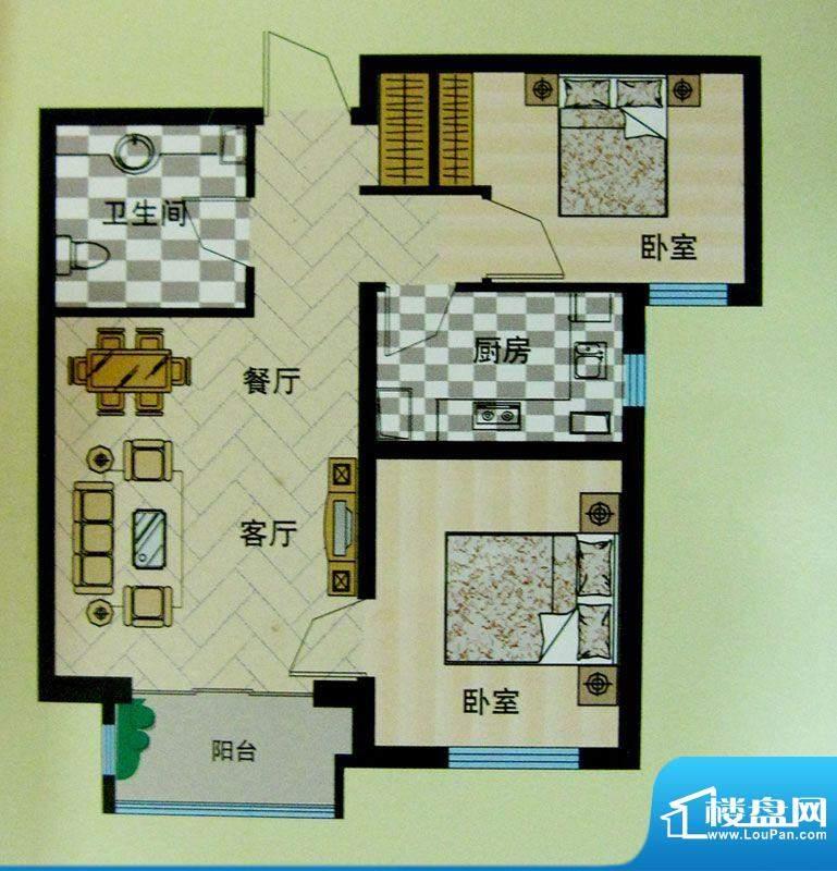 安联青年城户型图10#11#楼户型面积:72.91平米