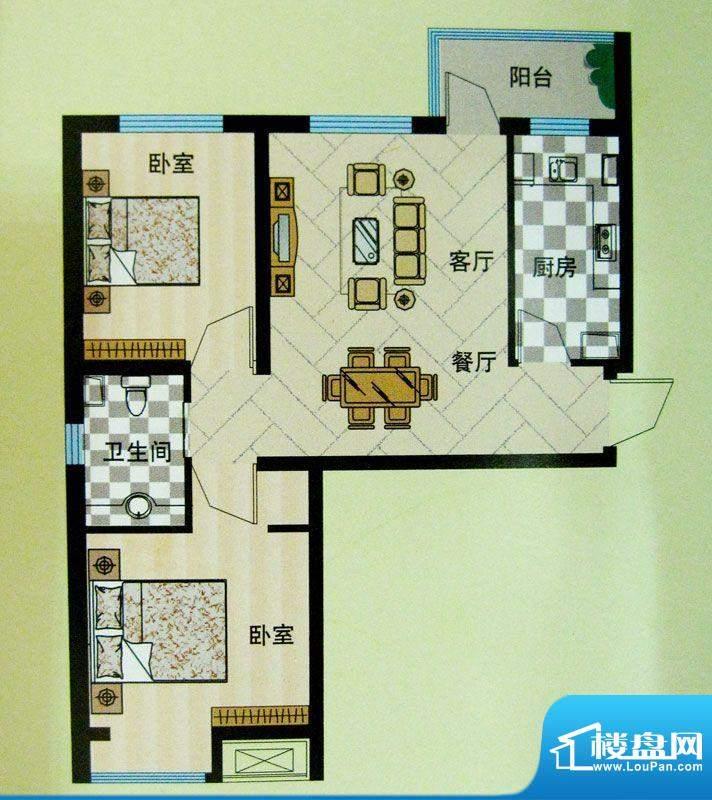 安联青年城户型图10#11#楼户型面积:75.42平米
