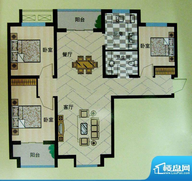 安联青年城户型图10#11#楼户型面积:117.25平米