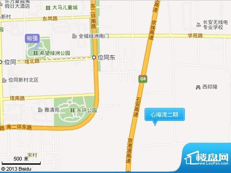 心海湾二期交通图