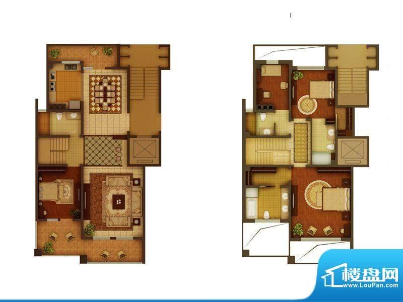 金正君庭户型图B户型 4室2厅4卫面积:247.77平米