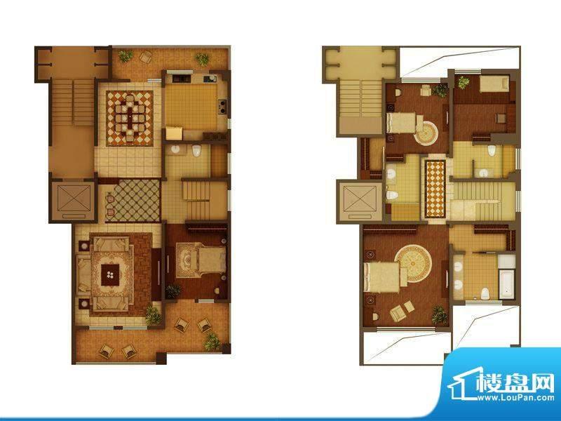 金正君庭户型图A户型 4室2厅4卫面积:256.55平米