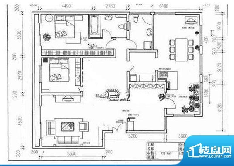 格林印象户型图1户型 3室2厅2卫面积:135.00平米