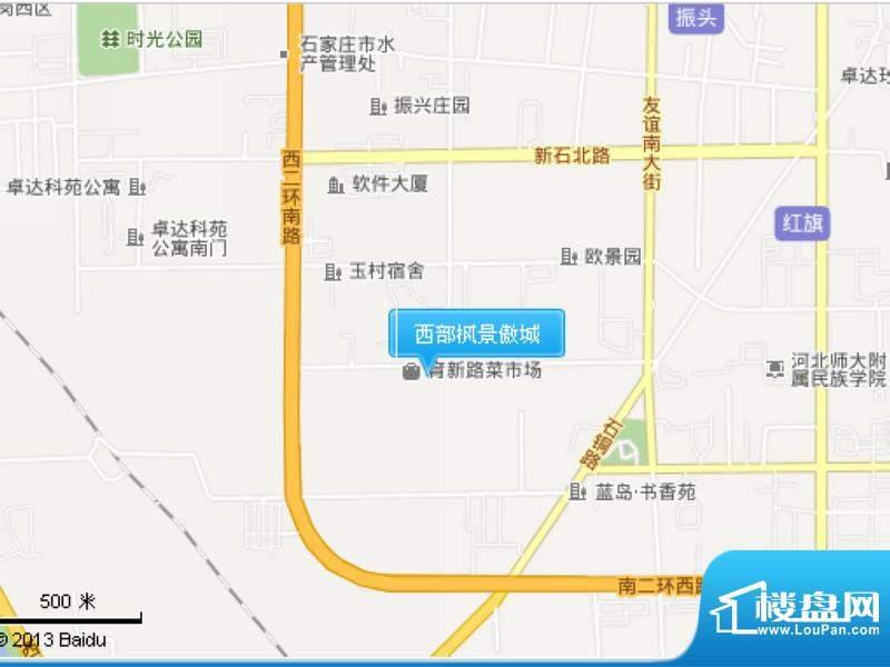 西部枫景傲城交通图