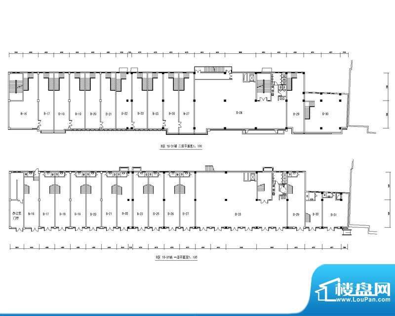 天水丽城户型图商业B区16-31铺