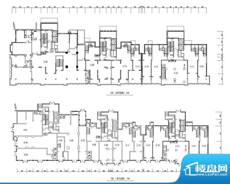 天水丽城户型图商业C区一二层平