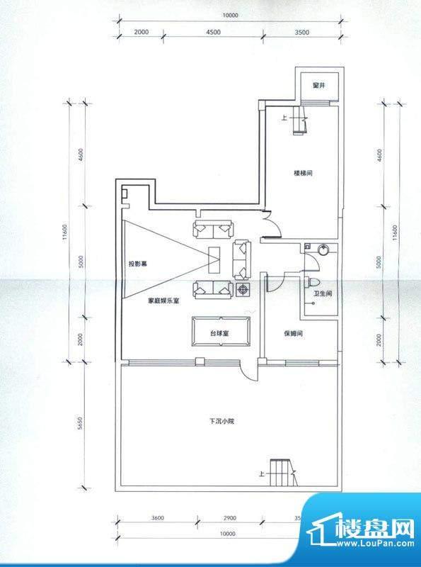 成果社区户型图联排C-2户型地下面积:387.00平米