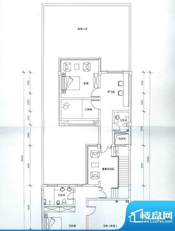 成果社区户型图联排C-2户型二层面积:387.00平米