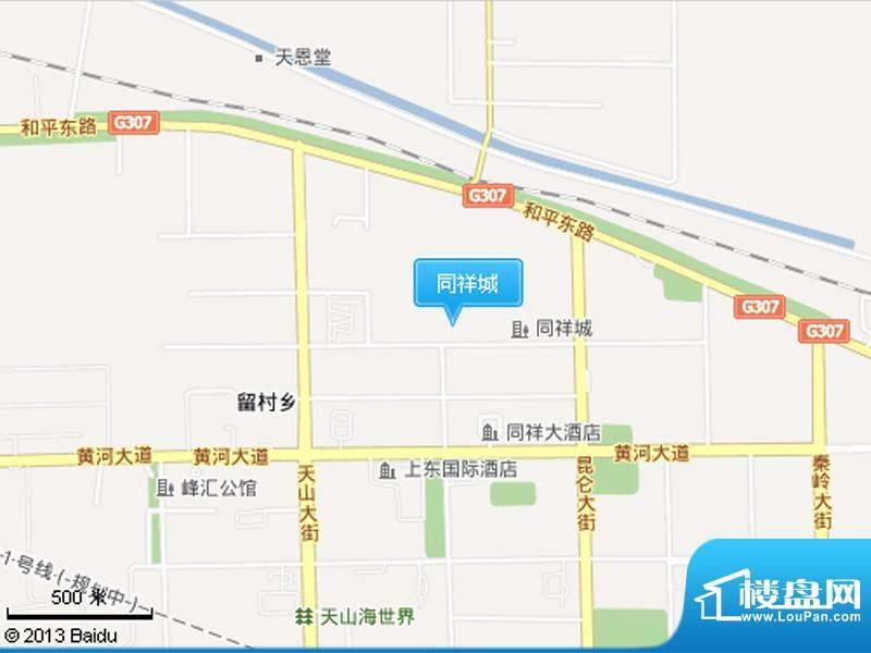 同祥城三期交通图