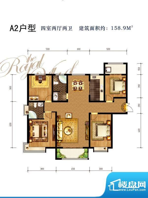同祥城户型图A2户型 5室2厅3卫面积:192.82平米