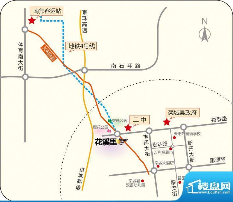 花溪里交通图