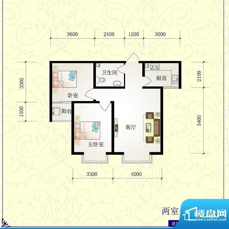 芝兰明仕二期户型图2户型86.28面积:86.28平米