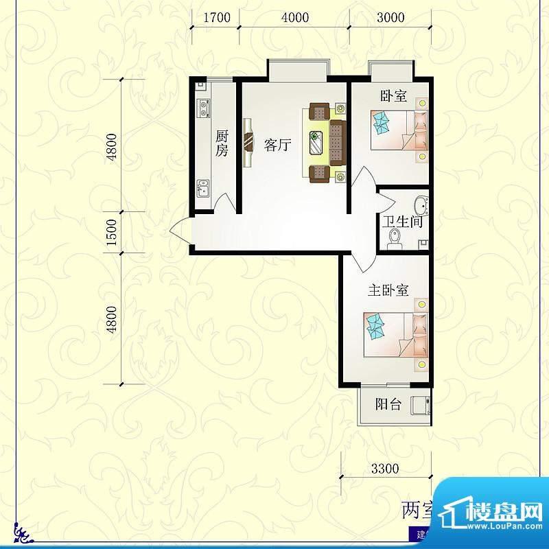 芝兰明仕二期户型图4户型96.88面积:96.88平米