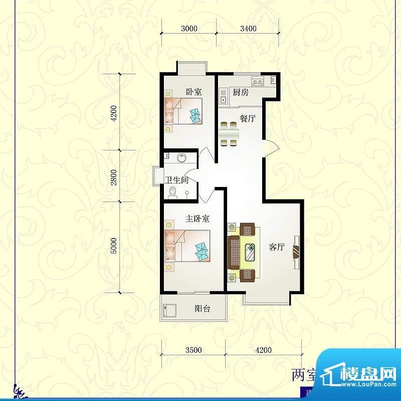 芝兰明仕二期户型图5户型105.3面积:105.36平米