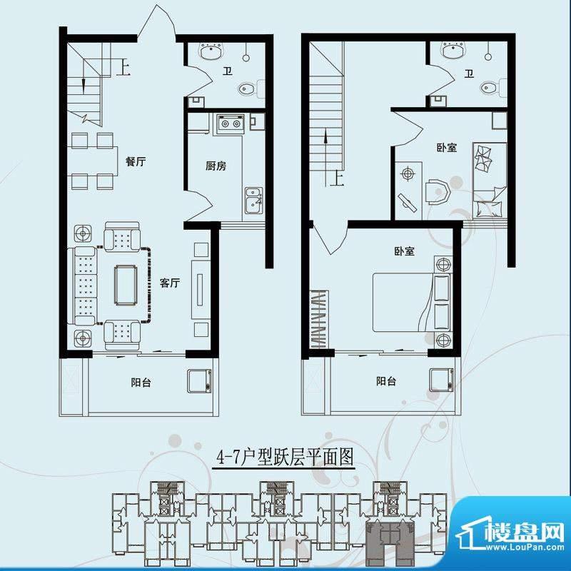 北部时光户型图D7 两室两厅两卫面积:115.32平米