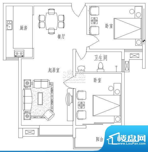 新天地自然康城丙户型(二期已面积:86.00平米