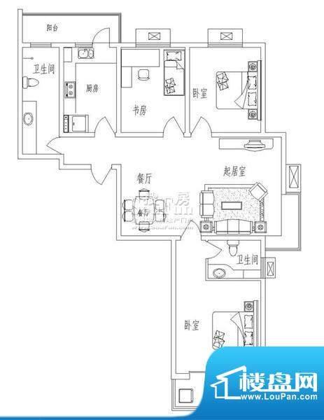 新天地自然康城丁户型(二期已面积:90.00平米