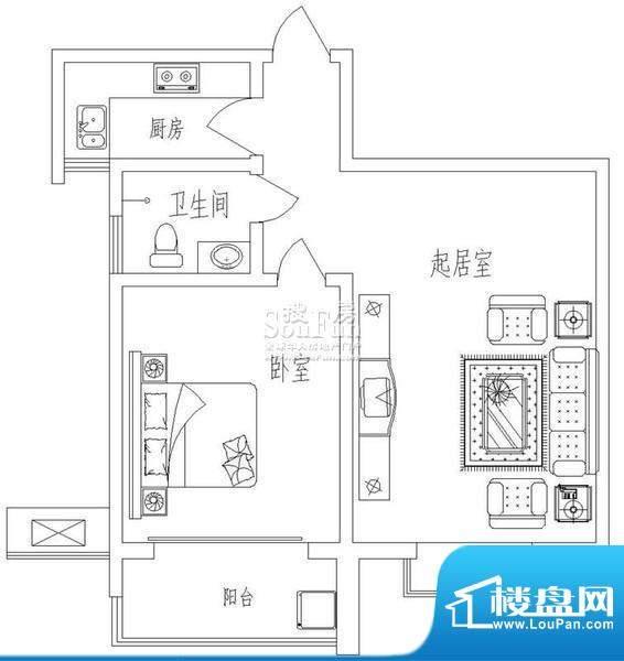 新天地自然康城戊户型(二期已面积:65.00平米