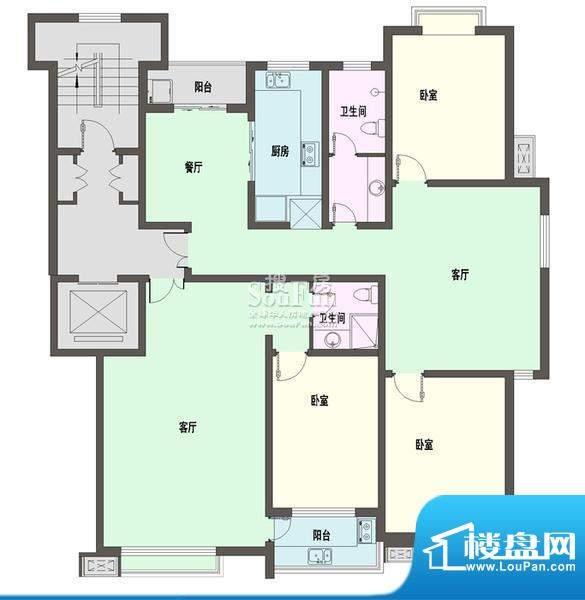 新天地自然康城三期户型图E户型面积:115.00平米