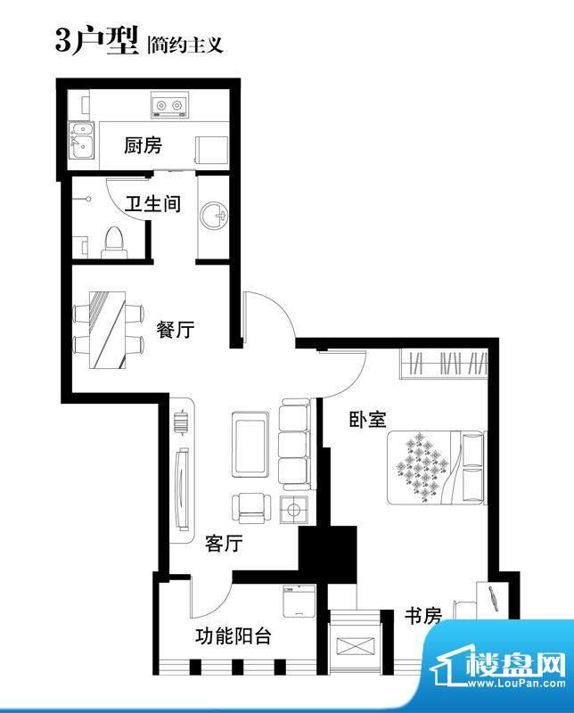 中天世都户型图03户型 2室2厅1面积:72.94平米