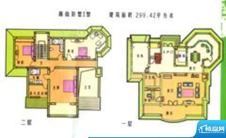 水印长滩户型图户型图 4室2厅3面积:299.42平米