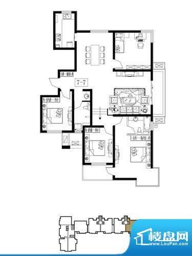 荣盛阿尔卡迪亚户型图7-已售完面积:166.00平米