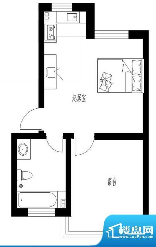 东岸酷博户型图2户型 1室1厅1卫面积:42.00平米