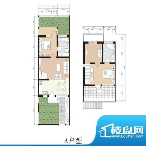 林屿森林别墅户型图a户型 2室2面积:107.70平米