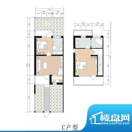 林屿森林别墅户型图c户型 2室1面积:92.16平米