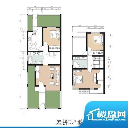 林屿森林别墅户型图双拼e户型 面积:147.82平米