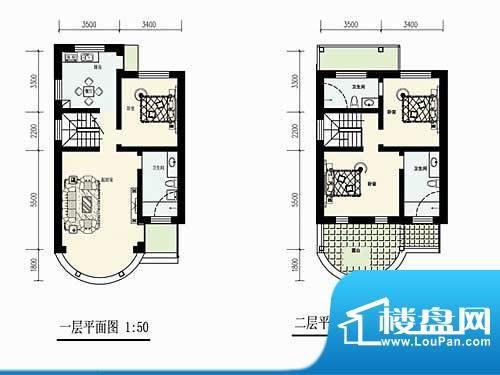 林屿森林别墅户型图4Q-K户型 3面积:160.00平米