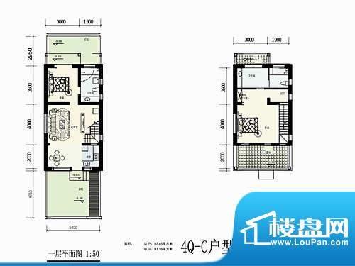 林屿森林别墅户型图4Q-C户型 2面积:110.00平米