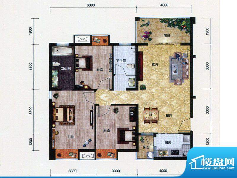 朗曼梦公园5、6号楼面积:112.00m平米