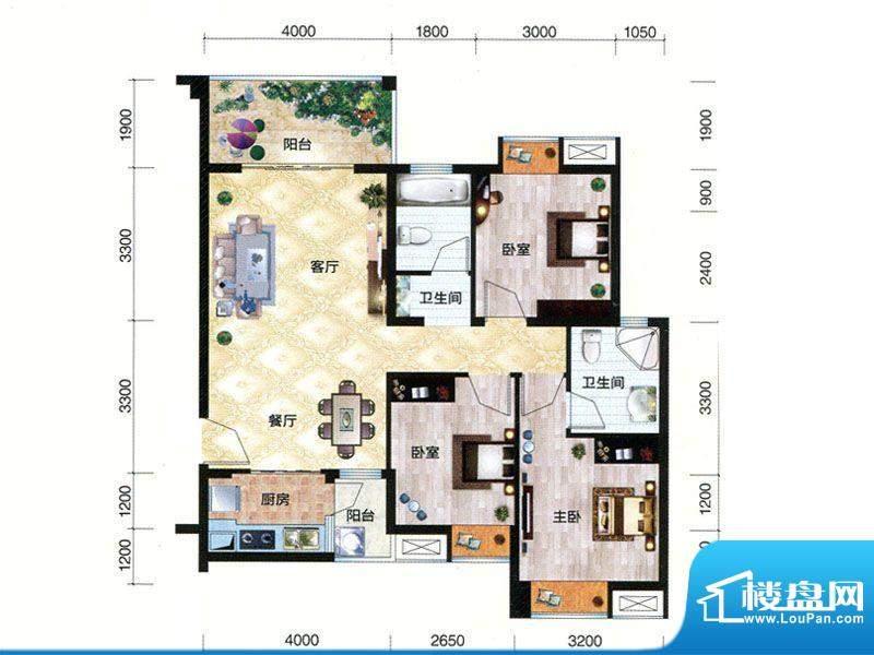 朗曼梦公园5、6号楼面积:107.50m平米
