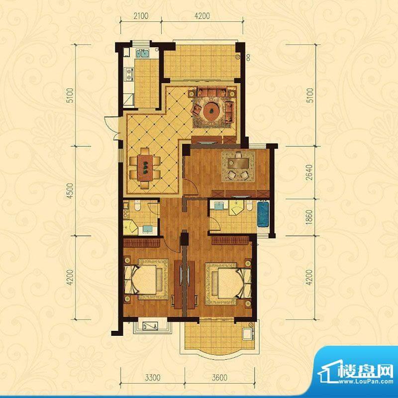 巴黎都市9号楼3室2厅面积:121.00m平米