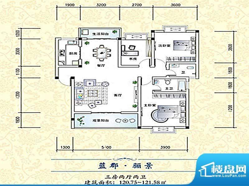 欣天蓝郡户型2 面积:0.00m平米