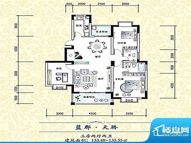 欣天蓝郡户型4 面积:0.00m平米