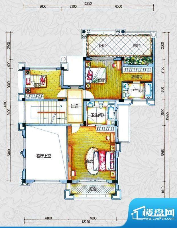 锦绣海湾城户型图B2-1户型二层