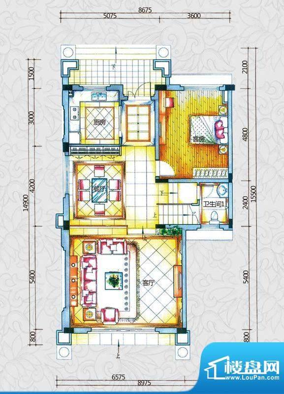 锦绣海湾城户型图B1-1户型首层