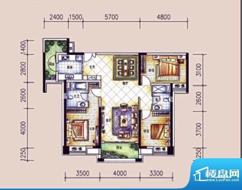 尚东领御户型图12栋2单元02户型面积:142.75平米