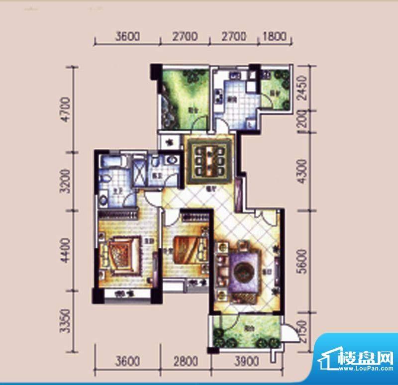 尚东领御户型图12栋1单元02户型面积:128.69平米