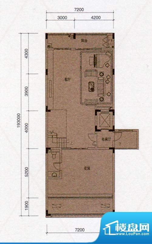 尚东领御户型图D户型330㎡首层面积:138.00平米