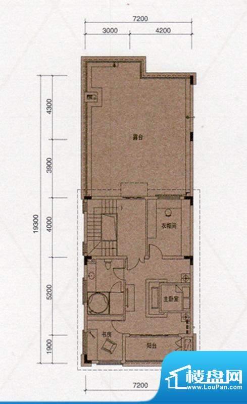 尚东领御户型图D户型330㎡三层面积:52.00平米